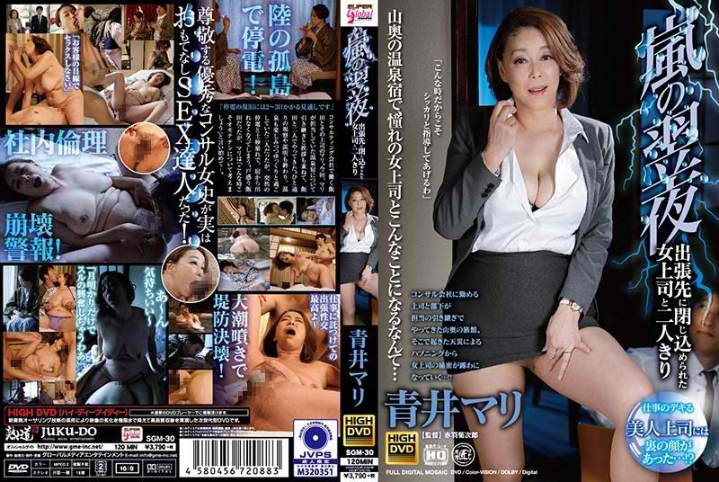 SGM-30 Mari Aoi Alone With A Female Boss Trapped On A Business Trip The Night After The Storm