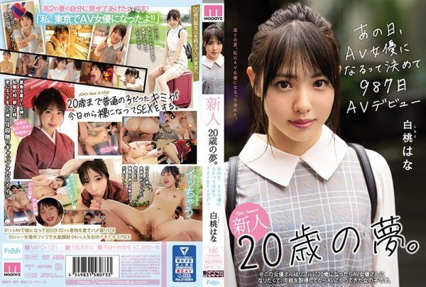 MIFD-131 A Dream Of A Newcomer 20 Years Old. On That Day, I Decided To Become An AV Actress And Made My AV Debut On The 987th Hana Hakuto